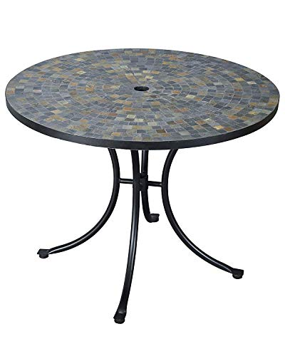 Stone Harbor Slate Tile Top Outdoor Dining Table by Home Styles (Patio Top Stone Set)