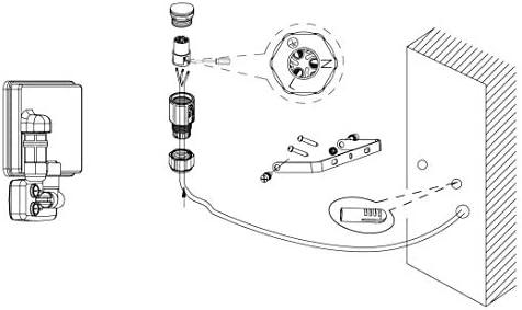 EGLO LED Außen-Strahler Faedo 3, 1 flammige Außenleuchte inkl. Bewegungsmelder, Sensor-Wandstrahler aus Alu, Farbe: Schwarz, Glas: klar, 50 Watt, IP44