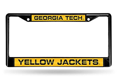 - Rico Industries NCAA Georgia Tech Laser Cut Inlaid Standard Chrome License Plate Frame, 6
