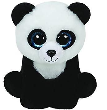 Ty Classics Ming, panda de peluche, 23 cm, color negro (90223TY)