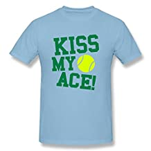 Kiss My Ace Tennis Men's Classic Short Sleeve Tshirt Yellow