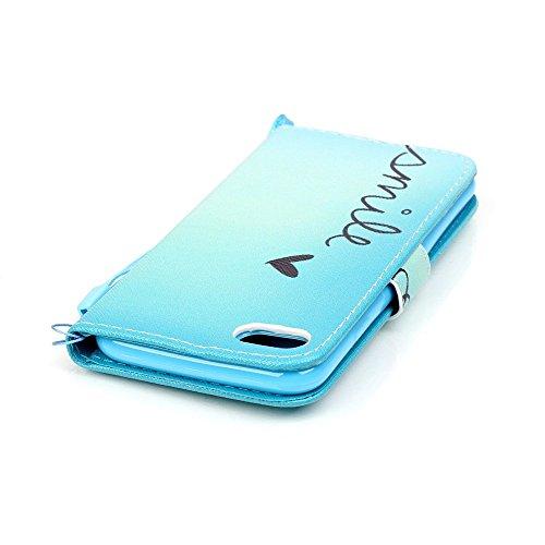Apple iPhone 7Sac étui Cover Case de protection en cuir synthétique Smile Multicolore decui Multicolore Housse en simili cuir