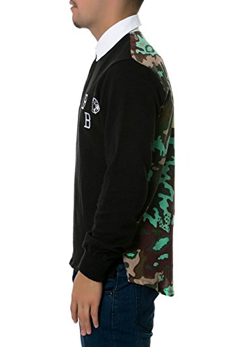 Billionaire Boys Club Nothing Rugby Large Black & Camo