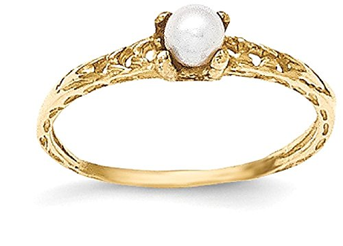14k Gold 3mm Pearl - 9