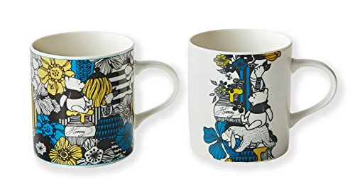 Disney Winnie the Pooh Porcelain Pair Mug Maebata 23741(Japan import)