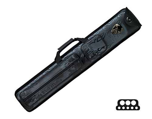 Action Pool Cue Case (Action 3-Butt and 5-Shaft Spring Loaded Vinyl Pool Cue Case with Eight Ball Mafia Designs)