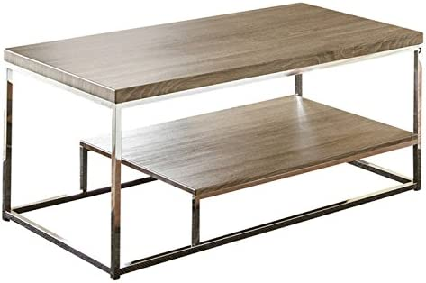 Steve Silver Company Lucia Cocktail Table, 47 x 24 x 20 , Grey Brown