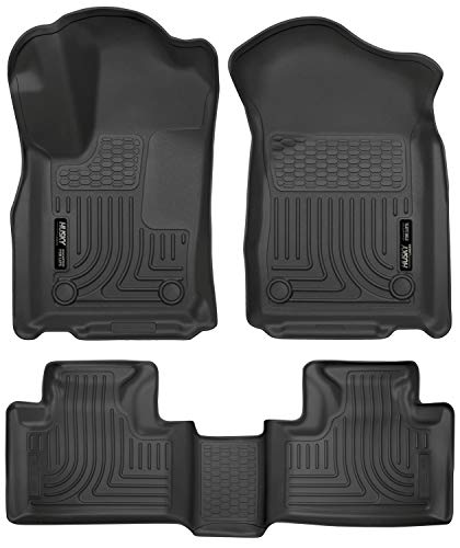 Husky Liners 99151 Black Front & 2nd Seat Floor Liners Fits Dodge Durango, 16-19 Jeep Grand Cherokee