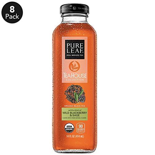 Pure Leaf Tea House Collection, Organic Iced Tea, Wild Blackberry & Sage, 14 Ounce, 8 -