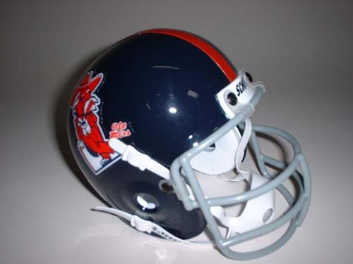 Schutt Mississippi (Ole Miss) Rebels 1970 Throwback Mini Helmet