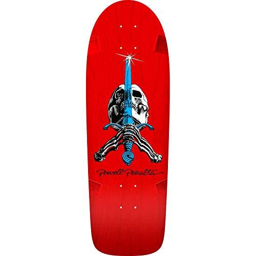 Powell-Peralta O.G. Ray Bones Rodriguez Skull & Sword Red Skateboard Deck (Top Ten Best Skateboard Decks)