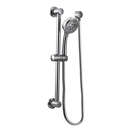Moen 3669EP Handheld Showerhead with 69-Inch-Long Hose Featuring 30-Inch Slide Bar, Chrome (Transitional Pressure Balance Valve)