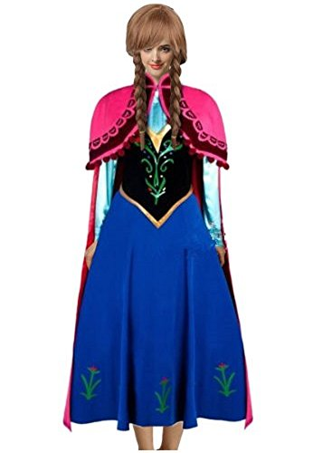 [Goodsaleok Anna Cosplay Dress Costume Princess Dress for Women and Girls] (Comic Con Costumes For Females)