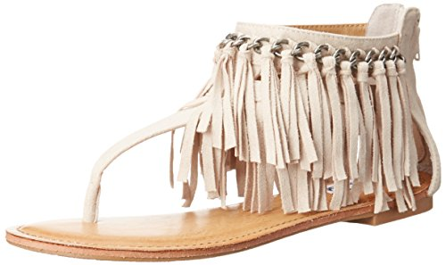 Not Rated Women's Keep The Peace Dress Sandal, Cream, 8.5 M US