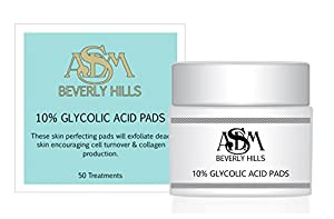 ASDM Beverly Hills 10% Glycolic Acid Pads, 50 Count by ASDM Beverly Hills