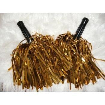 Value pack: metallic gold cheerleader pom poms - cheerleading special! [misc.]