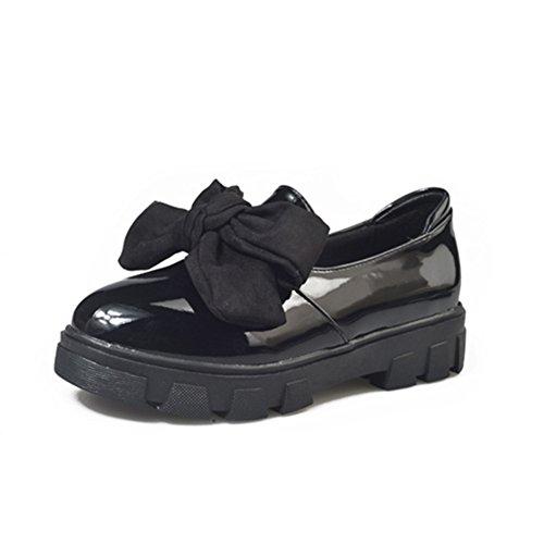 Fashion Hundred Schuhe,Damenschuhe,Studenten Bow Shoes A
