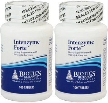 Biotics Research Intenzyme Forte 100 Tablets (100 Pack of 2)