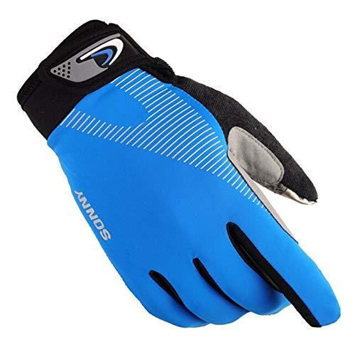 Epinki Riding Gloves Half Finger Full Finger Gloves Sport Outdoor Summer Bike Gloves Full Finger-Blue Medium