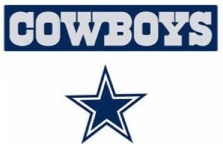 "Dallas Cowboys Logo Sign FATHEAD Set of 2 Official NFL Vinyl Wall Graphics 20"" INCH Sign + 9"" INCH Star"