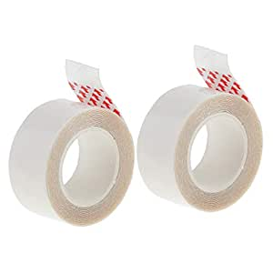 Blesiya 3 Yards Wig Support Tape Roll 2cm Wide Strong Adhesive Double Sided Hair Replacement Tape for Skin Weft Hair Toupees Beards, 2 Rolls