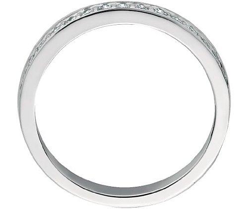 1,6mm Serti de diamants ronds 0,35carats Full Eternity Bague en or blanc