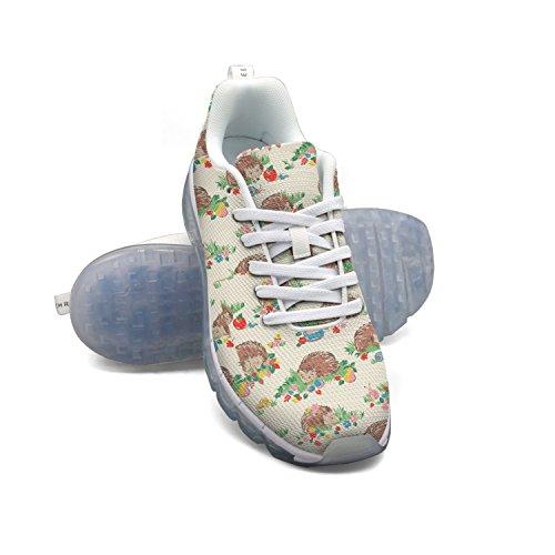 FAAERD Cute Hedgehog Men's Breathable Mesh Air Cushion Casual Fashion Sneakers Athletic Gym Walking Sports Running Shoes cheap finishline YaZnRxE