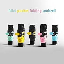 whx Pocket umbrella, Ultra Mini(6.7in),Travel compact lightweight ultra-small pocket size UV protection umbrella windproof umbrella-Random Color