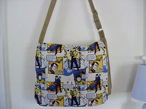Star Trek Messenger bag,Large purse,Utility bag, crossbody bag,zipper pocket under flap,3 pockets in side 1 with zipper.adjustable - Flap Under Pocket