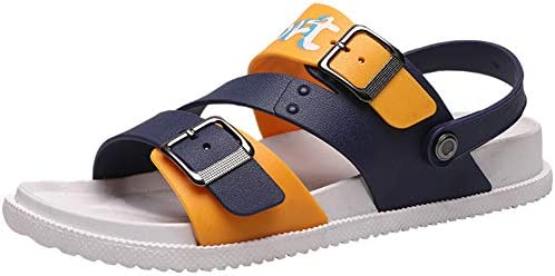 ユニセックスサンダル、柔らかく快適な滑り止めスリッパ、夏の旅行に最適,オレンジ色,45