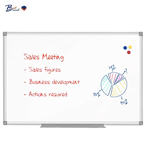BESTBOARD Dry Erase Whiteboard for Walls, Double-Sided, Magnetic 36