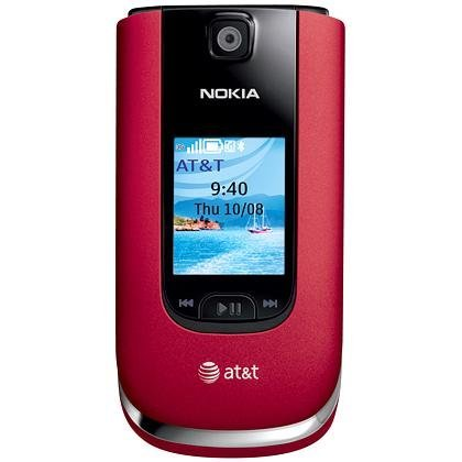 Nokia 6350 Unlocked GSM Flip Phone with Second External TFT Display, 2MP Camera, Video, Internet Browser, GPS, Bluetooth, MP3/MP4 Player and microSD Slot - Red