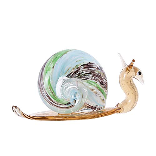 crystalsuncatcher Handmade Snail Art Glass Blown Reptiles Animal Figurine