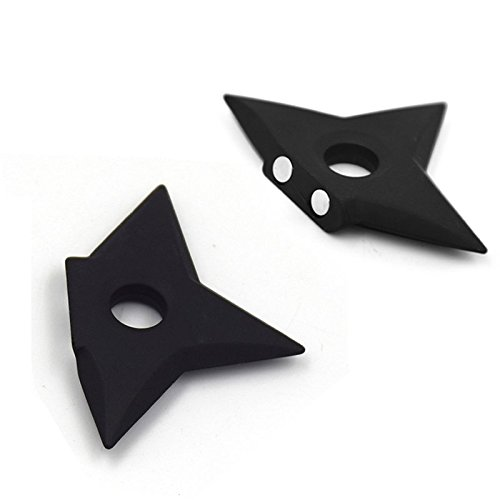 Ninjia Shuriken Fridge Magnets, VITORIA'S GIFT Assassin Fashion Metal Magnets ,Pack of 2 (Black)