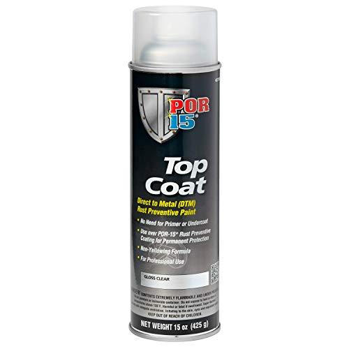 POR-15 45718 Top Coat Gloss Clear Spray Paint, 14. ()