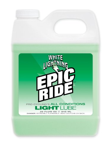 White Lightning Epic Ride All Conditions Light Bicycle Chain Lube 32oz Quart Jug ()