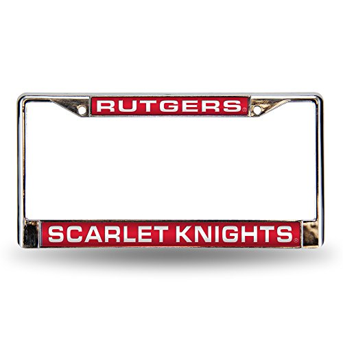 Rutgers Scarlet Knights Official NCAA License Plate Frame Laser by Rico 604202 (Rutgers License Plate)