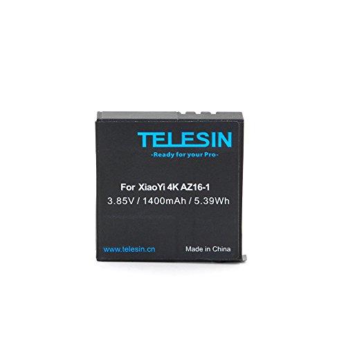 TELESIN 2pcs 1400mAh Backup Li-on Batería recargable con USB Dual Cargador de batería para Xiaomi yi cámara de acción...