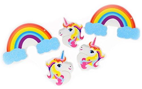 Magical Unicorn & Rainbow Hearts Stickers Set, Rave Booty and Face Stickers Kit (Rainbows & (Gay Halloween Party Phoenix)