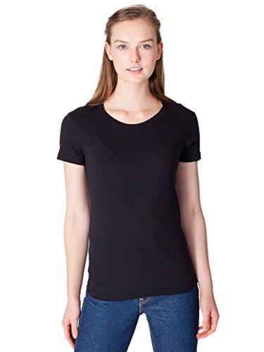 (American Apparel Women's Fine Jersey Short Sleeve Women's's T Size M Black)