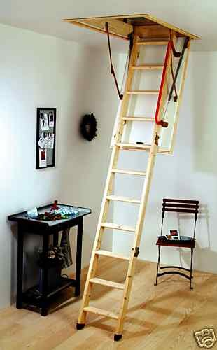 Youngman 345350 Eco S Line-3 Section Timber Folding Loft Ladder