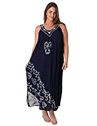 Ingear Tie Dye Umbrella Dress Long Batik Dress