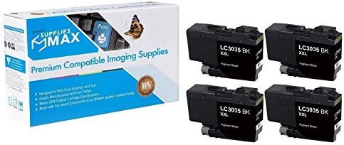 4-BK//2-C//M//Y LC-3035XXL-4BK2CMY SuppliesMAX Compatible Replacement for Brother DCP-J1100//MFC-J805//J815//J995//J1300DW Ultra High Yield Inkjet Combo Pack