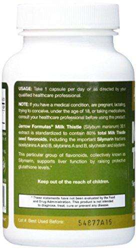 Jarrow Formulas Milk Thistle 200 Veggie Capsules (Pack of 2)