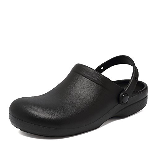 Image of Fanture Men Women Slip Resistant Specialist Chef Clogs Mulitfunctional Restaurant Kitchen Garden Safety Work Medical Shoes