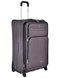 "Swiss Travel Products Charcoal 28"" Upright Rolling Suitcase"