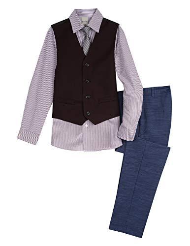 - Kenneth Cole Boys' 4-Piece Dresswear Vest Set, Port Royale, 8