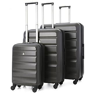 Aerolite Maleta, gris (Gris) – ABS325 Charcoal 3 PCS Vendor