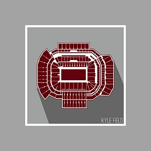 Texas A&M - Kyle Field - College Football Seating Map - 12x12 Matte Poster Print Wall Art by ArtsyCanvas