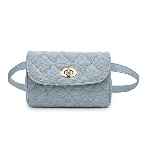 Blue Bag Waist Women Elegant Badiya Fanny Butterfly Pack Quilted Crossbody Denim Bag q4pxfPa